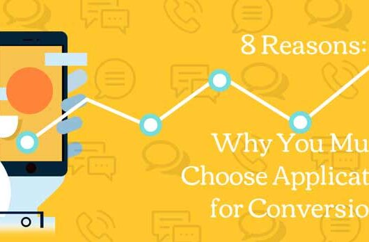 8 Reasons Why You Must Choose Applications for Conversions - techbuzzpro.com